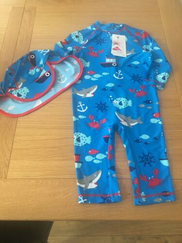 Rrp £20 Bnwt Marks And Spencers UV One Piece /& Hat 4-5 Years