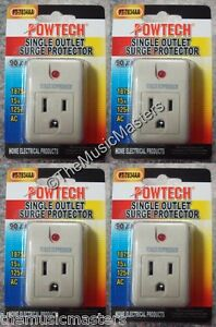 4X Single Outlet AC Wall Plug Surge Protector Power Suppressor 90 Joules 1875W