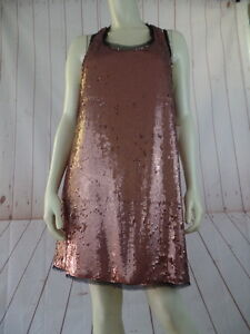 5ad261a6 Rachel Roy Top or Dress S New Rose Gold Sequin Racerback Pullover ...