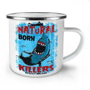 Born Killer Shark NEW Enamel Tea Mug 10 oz   Wellcoda