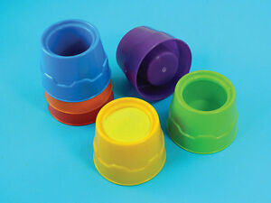 Non-tip water Pots /paint pots / storage pots X 6 Assorted Colours