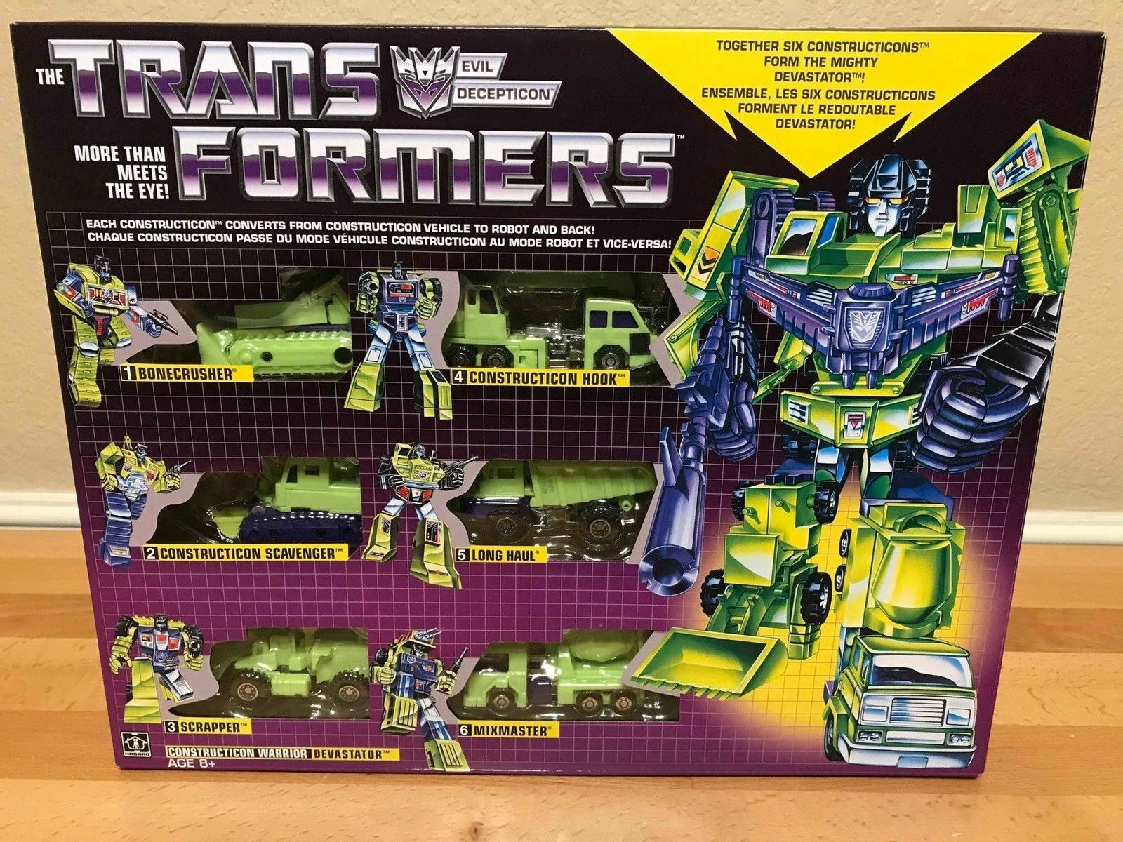 contador genuino Transformers Vintage G1 Devastator 2018 Walmart exclusivo exclusivo exclusivo reedición de sellado de fábrica  disfrutando de sus compras