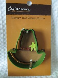NEW Cocinaware Cowboy Hat Shaped Metal Cookie Cutter