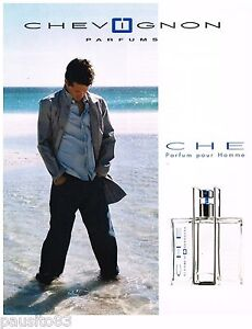 PUBLICITE ADVERTISING 075 2002  CHEVIGNON  parfum homme CHE