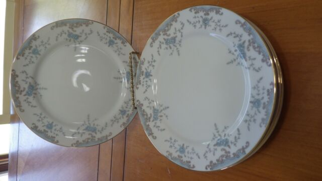 "Seville Imperial China Salad Plates W Dalton rimmed in gold 6 7.5"" plates"