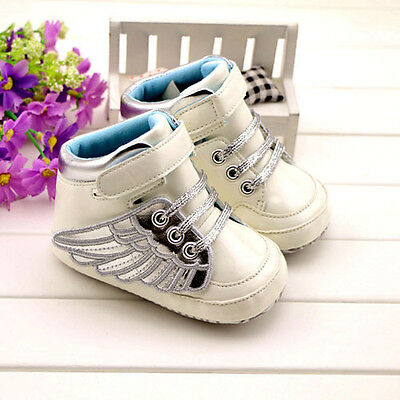 NEW Anti-slip Infant Toddler Baby Boy Girl Soft Sole Crib Wing Shoes Sneaker #BK