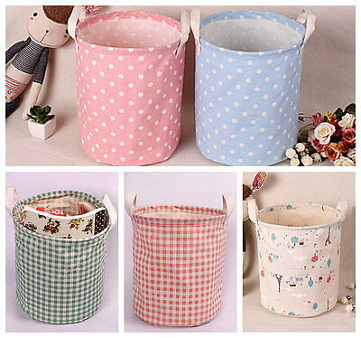 Zakka Multi-function Cotton Linen Toys Magazine Storage Toy Laundry Bin SNYT040