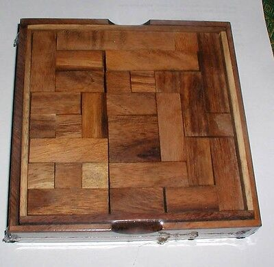 Pentominoes wood brain teaser puzzle game large w/cover