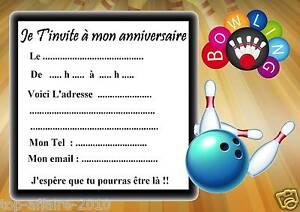 anniversaire bowling invitation