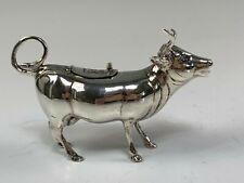 Sheffield Sterling Silver Novelty Figural Cow Cream Pitcher Israel Freeman & Son