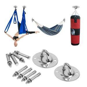 Aerial Yoga Hook Swing Spring Screw Kit Stainless Steel for Ceiling Hanging