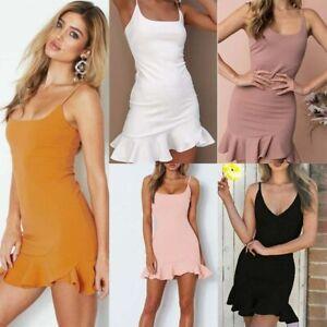 Boho-Chiffon-Summer-Women-039-s-Party-Evening-Beach-Short-Mini-Dress-Sundress