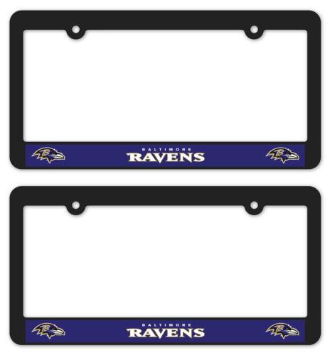 BALTIMORE RAVENS Matte Black License Plate Frames car football accessories 2