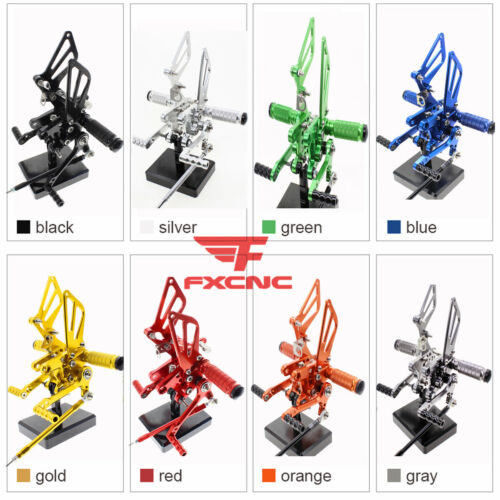 For Suzuki TL1000S TL1000R 1997-2003 02 01 Rearset Footrest Footpegs Foot Pegs