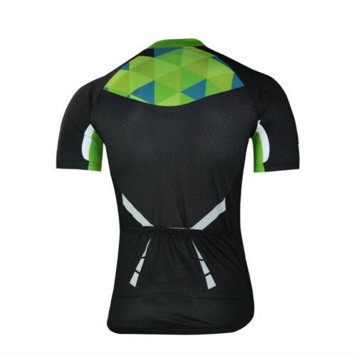 Men/'s Cycling Biking Jersey Top Short Sleeve Bike Bicycle Jersey Shirt Colorfull