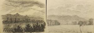034-le-to-Dusk-and-Dischala-Landscape-034-Coal-Lead-Sign-Dat-M-HUNSINGER-1948