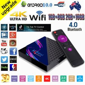 2021 H96 MINI V8 Quad Core Set Top Box BT Android 10.0 8/16G WiFi 4K Smart TV AU