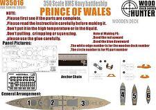 Hunter 1/350 W35016 Wood deck HMS Prince of Wales for Tamiya
