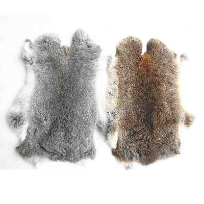"1//5//10pcs 16/""x9/"" Genuine Natural Rabbit Fur Skin Tanned Leather Hides Craft Pelt"