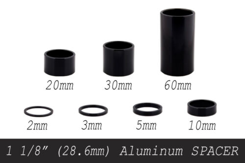 "1 1//8/"" ATOZI Aluminum Bike Bicycle Headset Stem Spacer 2//3//5//10//20//30//60mm Black"