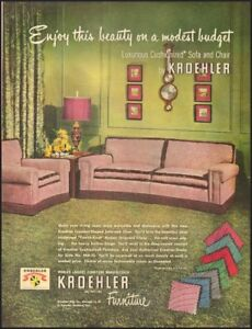 1950 Vintage Ad For Kroehler Furniture Retro Furniture Couch Chair