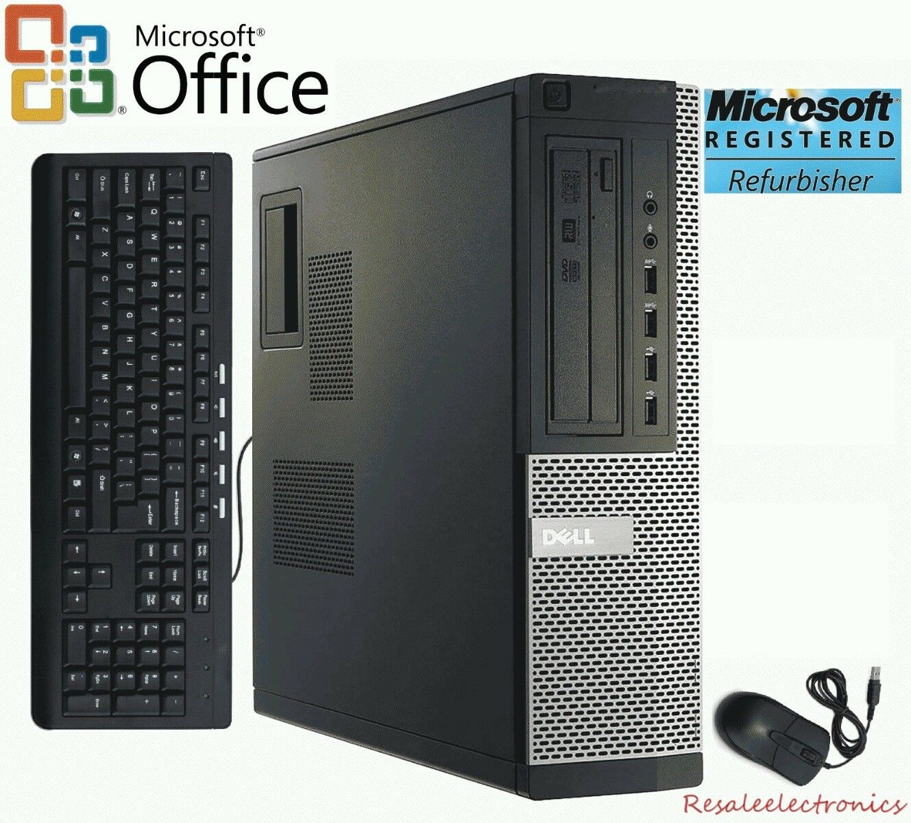 Fast Dell Desktop Computer Core i5 3.10Ghz Up To 1TB HDD Windows 10 Home or Pro