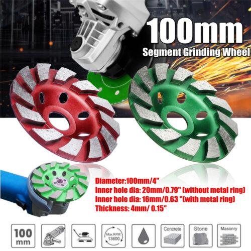 "4/""Diamond Grinding Wheel Cup Sanding Disc Stone Concrete Ceramic     M T"