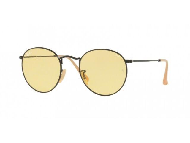 7ee94c02c89 Ray-Ban Sunglasses Round Metal 3447 90664a Black Yellow Photochromic Medium  50mm