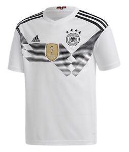 Adidas-Performance-Ninos-DFB-Camiseta-2018-Alemania-Home-Jersey-Youth-Blanco