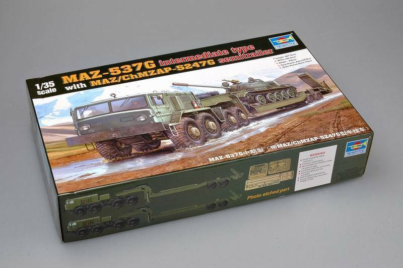 Trumpeter 1 35 00211 MAZ-537G Mid with Semi-Trailer