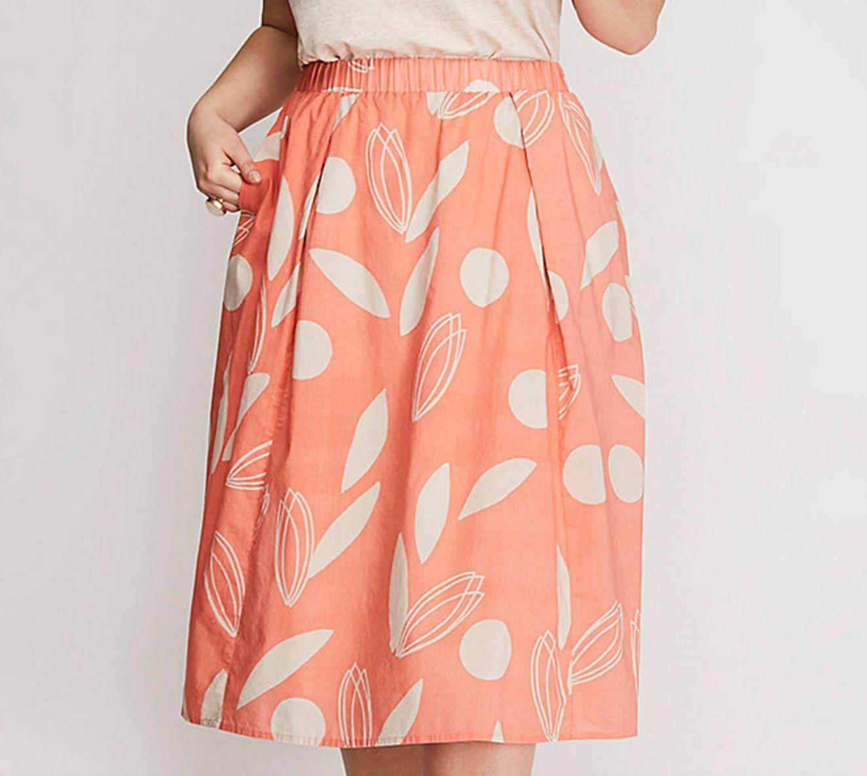 LANE BRYANT Printed Circle Skirt Womens Plus 22 24 26 28 Elasticized Waist 3x 4x