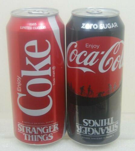 New Limited Edition Stranger Things Limited 16oz Coke /& Coke Zero Unopened