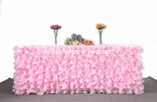 """Handmade Deluxe Tulle Table Skirt For Party Events Wedding 9FTx29"""" Ship From USA"""