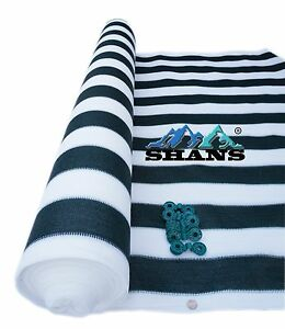 SHANS Sun Screen Shade Sail 90% UV Stripes Dark Green(12ftx12f<wbr/>t)+ Clips Free