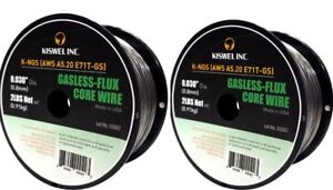 Made-in-USA-2-Rolls-E71T-GS-030-in-Dia-2lb-Gasless-Flux-Core-Wire-Welding