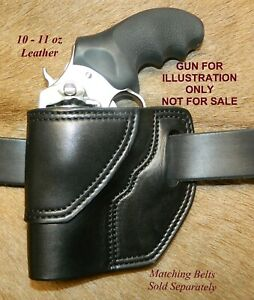 "Gary C's Leather Avenger OWB Left Hand Revolver Holster RUGER SP 101  3"" Black"