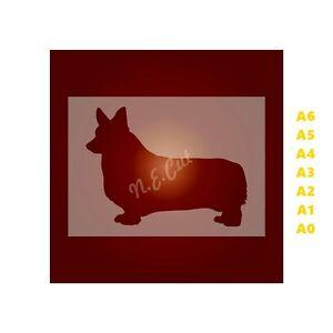 WELSH-CORGI-Dog-Stencil-350-micron-Mylar-not-Hobby-stuff-DOGS090