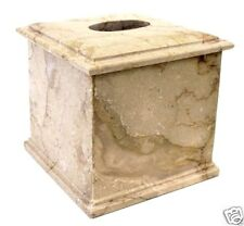 Natural Sahara Marble Tissue Box Holder Spa Bathroom Accessory Luxury Import