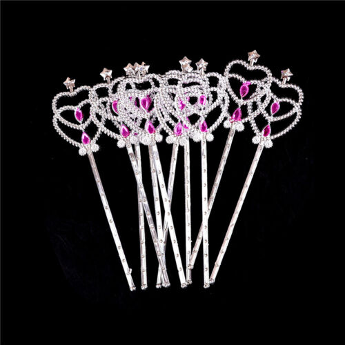 10PCS Crystal Girls doll Magic Wand Cosplay Crown Magic Wand