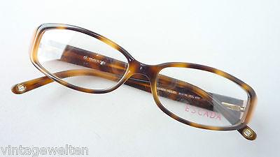 Gentile Escada Designer Damen Brillen Hornoptik Braun Rosa Kunststoff Fassung Größe S