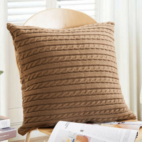 Knitting Cushion Cover Square Pillow Case Cafe Sofa Car Home Room Decor Hot Sale
