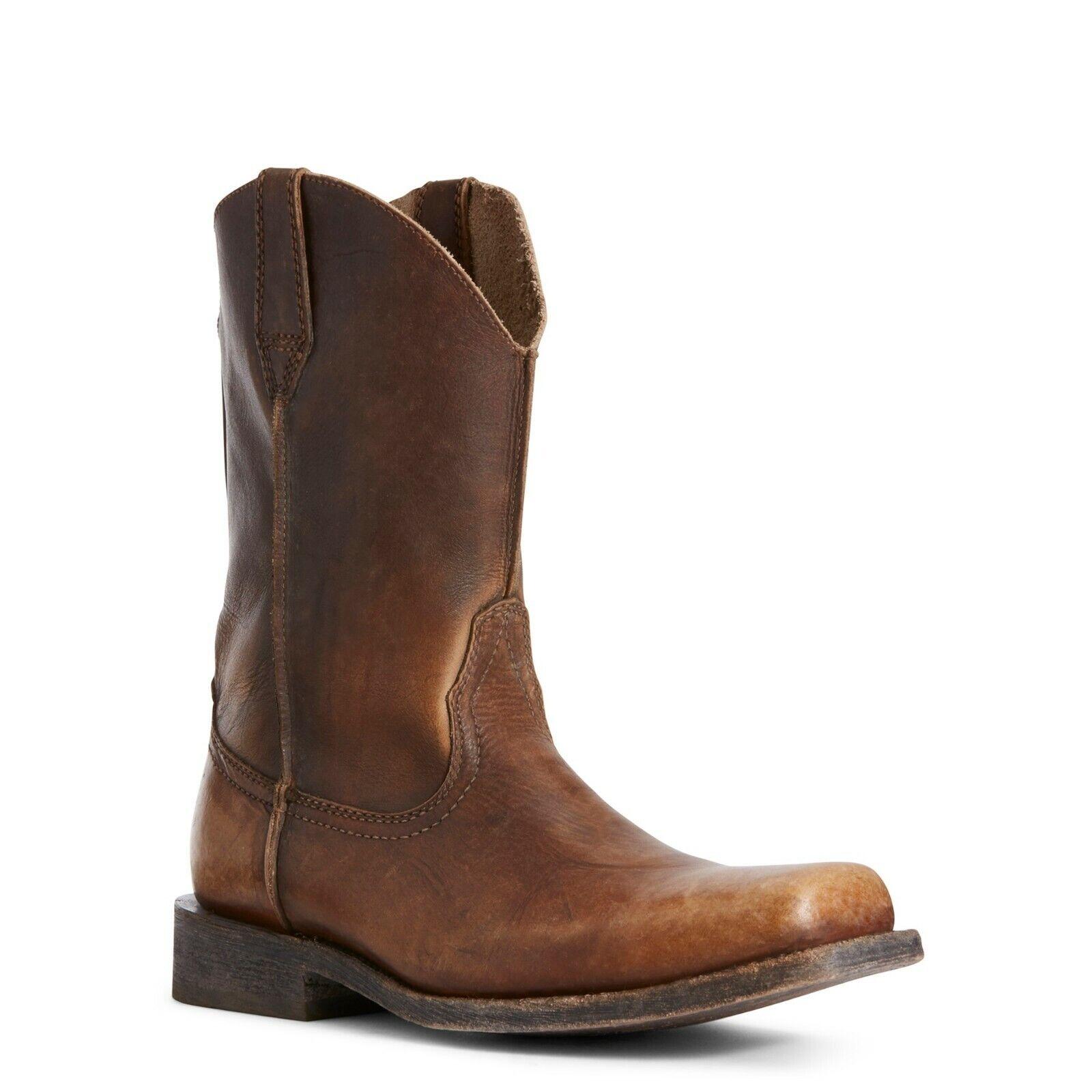 Ariat ® para hombre ® suela de cuero marrón envejecido Rambler botas 10027227