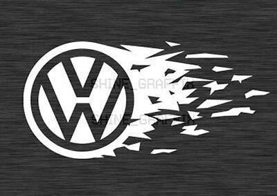 VW EMBLEM tear Decal Sticker JETTA GTI GOLF R32 Polo VW Mk3 Mk4 Mk5 MK6 MK7