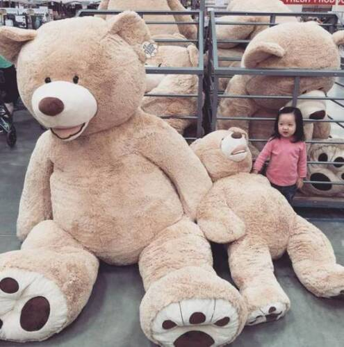 """One pcs 99/""""//2.5m HUGE SUPER TEDDY BEAR ONLY COVER PLUSH TOY SHELL WITH ZIPPER"""