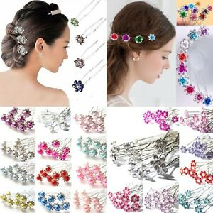 Women-10pcs-Wedding-Bridal-Bridesmaid-Pearls-Flower-Crystal-Hair-Pins-Hair-Clips