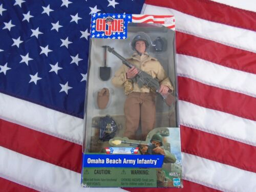 """GI JOE D-Day Collection Omaha Beach Army Infantry 12"""" Action Figure - Unopened"""