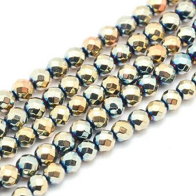 Metal Beads 16 strand with approx Plated Beads Hematite Supplies Mystic Purple Electroplated Hematite Beads 80 beads Mince Beads