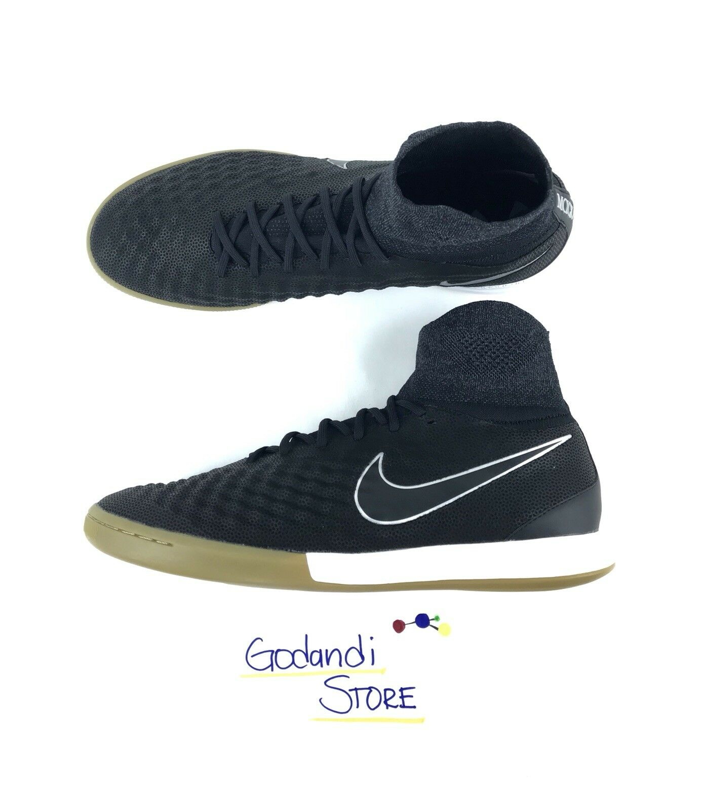 NIKE Men Soccer Shoes S 12 Magistax Proximo II TC IC Tech Craft Black 852507-001