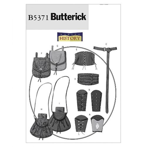 Butterick Ladies /& Mens Sewing Pattern 5371 Historical Wrist Bracers Cor...