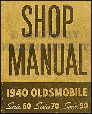 1940 Oldsmobile ORIGINAL Repair Manual 40 Olds Shop Service Series 60 70 90